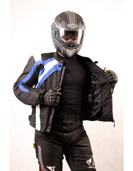 Tekstylna kurtka motocyklowa męska turystyczna/sportowa Z GARBEM KTM029 - Rypard.pl Odzież i akcesoria motocyklowe
