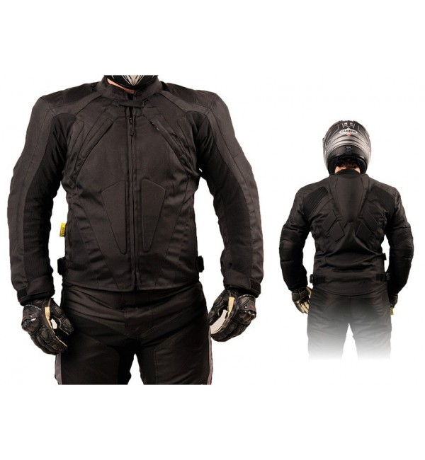 Tekstylna kurtka motocyklowa męska turystyczna/sportowa Z GARBEM KTM030 - Rypard.pl Odzież i akcesoria motocyklowe