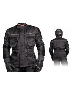 Tekstylna kurtka motocyklowa męska ze wstawkami ze skóry zamszowej KTM020 - Rypard.pl Odzież i akcesoria motocyklowe