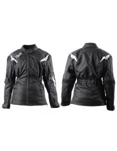 Długa kurtka motocyklowa tekstylna damska z ozdobnym haftem KTD009 - Rypard.pl Odzież i akcesoria motocyklowe