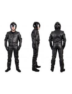 Kombinezon motocyklowy klasyczny, prosty, skórzany KOM043 z ramoneską - Rypard.pl odzież i akcesoria motocyklowe
