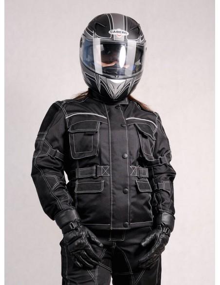 Kurtka motocyklowa tekstylno-skórzana damska KTD007 - Rypard.pl Odzież i akcesoria motocyklowe