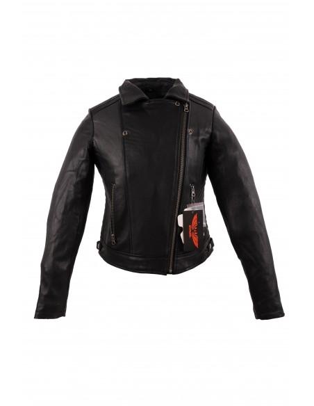 Skórzana kurtka motocyklowa damska RAMONESKA NA MOTOCYKL I NA CO DZIEŃ KSD016 - Rypard.pl Odzież i akcesoria motocyklowe