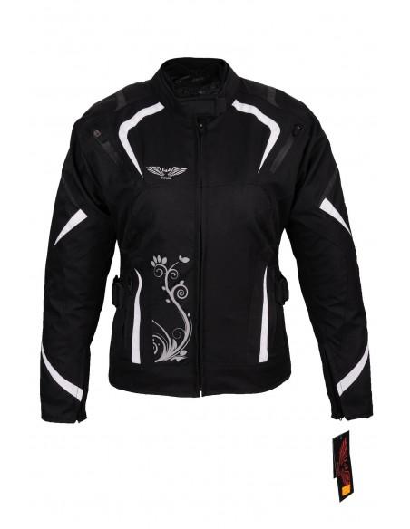 Tekstylna kurtka motocyklowa turystyczna damska PROTEKTORY SW 2 KTD014 - Rypard.pl Odzież i akcesoria motocyklowe