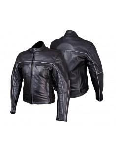 Turystyczna kurtka motocyklowa skórzana klasyczna KSM015 - Rypard.pl Odzież i akcesoria motocyklowe