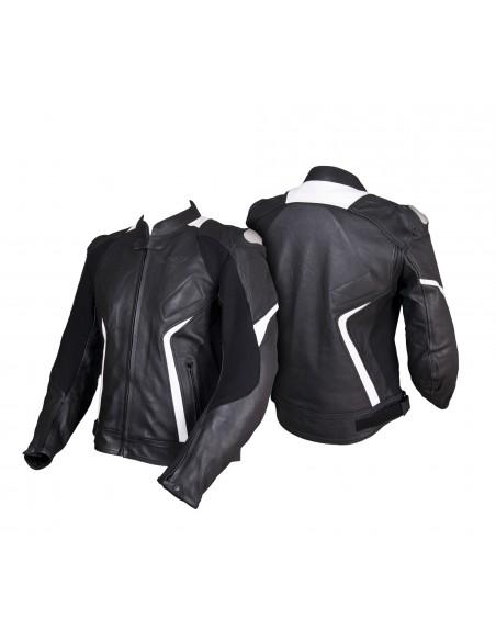 Sportowo-turystyczna skórzana kurtka motocyklowa KSM050 - Rypard.pl Odzież i akcesoria motocyklowe