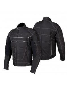 Tekstylna kurtka motocyklowa męska turystyczna długa, wypinana membrana KTM016 - Rypard.pl Odzież i akcesoria motocyklowe