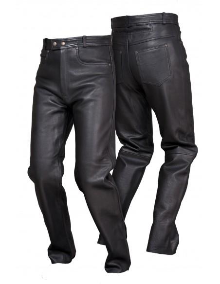 Spodnie motocyklowe skórzane męskie klasyczne proste SSM004 - Rypard.pl Odzież i akcesoria motocyklowe