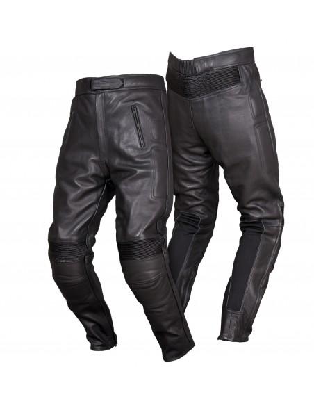 Spodnie motocyklowe skórzane męskie turystyczne z ochraniaczami SSM005 - Rypard.pl Odzież i akcesoria motocyklowe