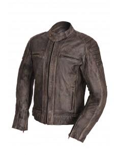 Skórzana kurtka motocyklowa męska RETRO CAFE RACER - Rypard.pl Odzież i akcesoria motocyklowe