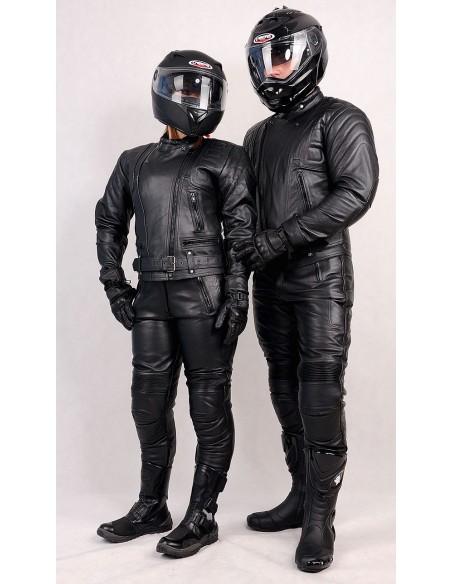 """Uniwersalna kurtka motocyklowa damska """"POLICYJNA"""" 2W1 SKÓRA LICOWA KSD001 - Rypard.pl Odzież i akcesoria motocyklowa"""