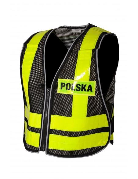 """Kamizelka motocyklowa odblaskowa """"POLSKA"""" - Rypard.pl Odzież i akcesoria motocyklowe"""