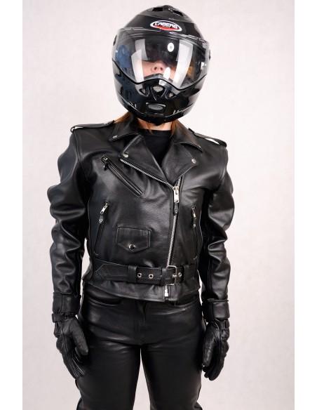 kórzana kurtka motocyklowa RAMONESKA DAMSKA na motocykl i na co dzień KSD003 - Rypard.pl Odzież i akcesoria motocyklowe