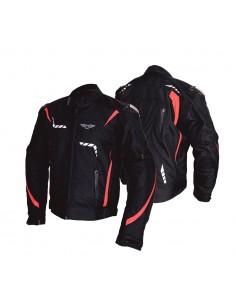 Tekstylna kurtka motocyklowa męska turystyczna/sportowa FALCON RED, membrana HUMAX 10000, protektory SW LEVEL 2 - Rypard.pl