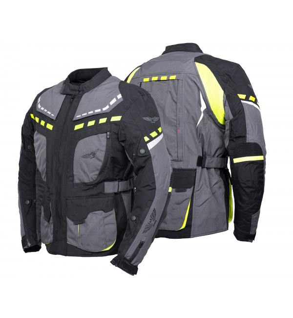 Tekstylna kurtka motocyklowa turystyczna męska E-PRO TITANIUM - Nowość 2021 - Rypard.pl Odzież i akcesoria motocyklowe