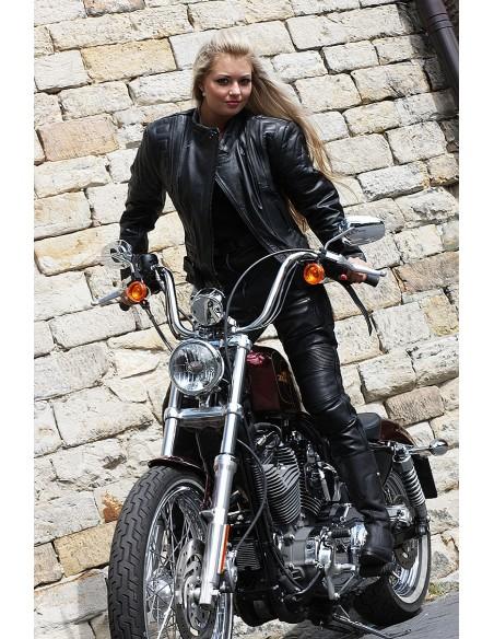 Uniwersalna skórzana kurtka motocyklowa damska POLICYJNA 2W1 KSD001 - Rypard.pl Odzież i akcesoria motocyklowe