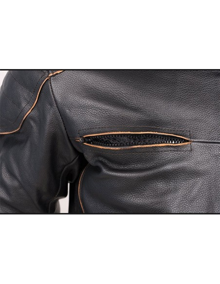 Skórzana kurtka motocyklowa męska RETRO USA - Rypard.pl Odzież i akcesoria motocyklowe
