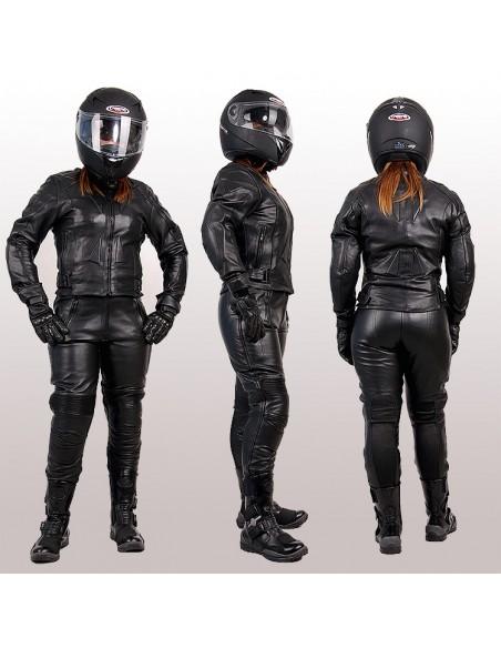 Sportowo-turystyczna kurtka motocyklowa skórzana damska  KSD009 - Rypard.pl Odzież i akcesoria motocyklowe