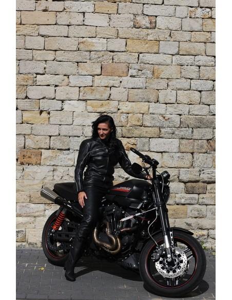 Turystyczna kurtka motocyklowa skórzana damska KSD007 - Rypard.pl Odzież i akcesoria motocyklowe