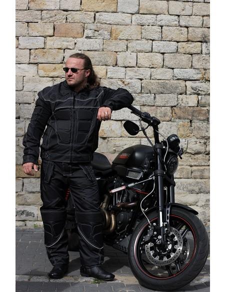 MĘSKI KOMPLET MOTOCYKLOWY TEKSTYLNY Z WYPINANĄ MEMBRANĄ I PODPINKĄ KOM018