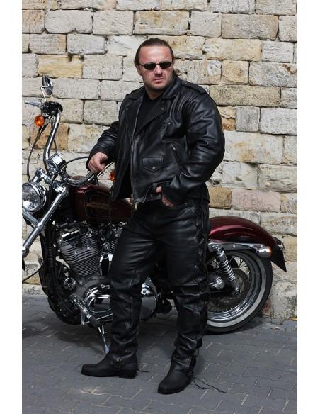 Kurtka motocyklowa skórzana męska RAMONESKA KLASYCZNA Z TŁOCZONYM ORŁEM USA - Rypard.pl Odzież i akcesoria motocyklowe
