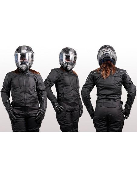 Tekstylna prosta i uniwersalna kurtka motocyklowa turystyczna damska KTD001 - Rypard.pl Odzież i akcesoria motocyklowe
