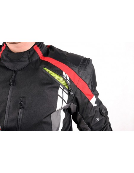 Tekstylna kurtka motocyklowa męska do jazdy turystycznej i miejskiej KTM010 - Rypard.pl Odzież i akcesoria motocyklowe